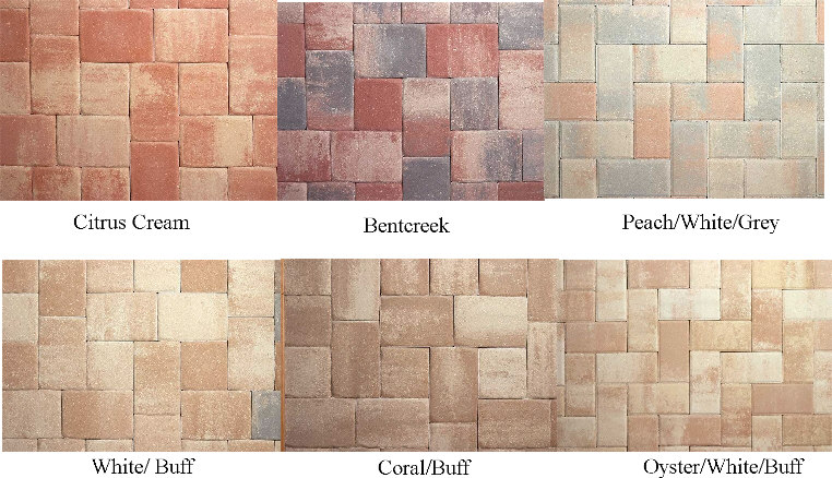 Standard Paver Colors Sample Patterns